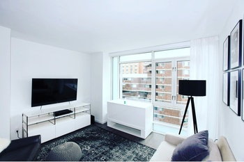 Brand New Luxury Furnished 1 Bedroom * 24 HR Doorman * Wright Fit Gym * W/D in unit * Roof Terrace *  Views * Gramercy Park