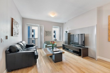 Spectacular,  One Bedroom 1.5 Bath Residence with a Balcony at Griffin Court Luxury Condominium